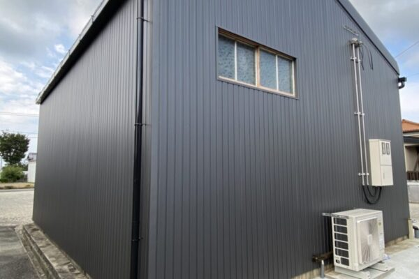明和町 N様 倉庫 屋根塗装 外壁カバー