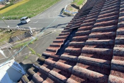 明和町で瓦屋根の現調にうかがいました。